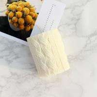 포근포근 니트 짜임 캔들-화이트