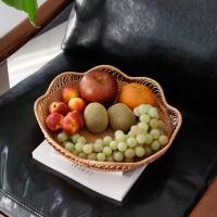 [2HOT] 뉴 라탄 꽃잎 원형 바구니 3P 세트