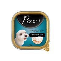 Peer(피어 사각캔)-닭고기와쌀 1BOX/24ea