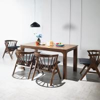 [채우리] 그로잉 4인 원목 식탁세트(의자)