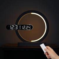 [무아스] 문라이트 듀얼 LED 벽시계 무드등(날짜버전)