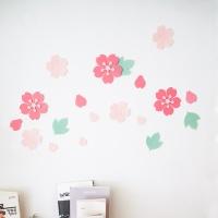 벚꽃 데코 스티커