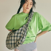 Shirring shoulder hobo bag_check