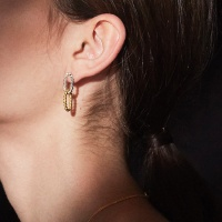 simple rope double earring
