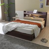 [보루네오 하우스] 아르메 엘피노 LED 평상형 침대 Q_밸런스 독립라텍스매트