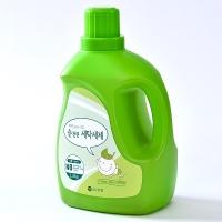 화학첨가물이 없어 아기옷,속옷에도 안전한..강청 순천연 세탁세제 2.5kg