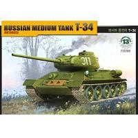 (아카데미과학-ACT13306) 1/48 러시아 중전차 T-34 [모터] 탱크 프라모델