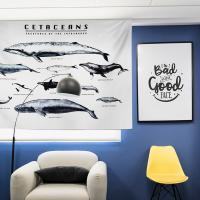 러프 패브릭포스터 고래도감 90x70