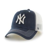 MLB모자 뉴욕 양키즈 네이비 아이보리빈티지로고