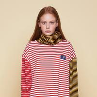 [어나더프레임] ANOTHER FRAME - MULTI STRIPE TURTLE NECK (RED) 터틀넥 폴라티