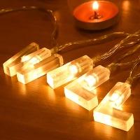 LED 윌유메리미 알파벳 건전지전구 가랜드 [웜]