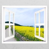cd340-유채꽃과담벼락04_창문그림액자