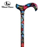 [클래식케인즈]Fashionable Canes 4097C_Black Flora(패션 조절식 지팡이)