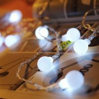 LED 앵두 건전지(밧데리)전구 20P 백색