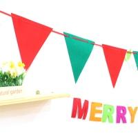 펠트 삼각 파티가랜드(크리스마스)