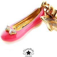 [참스홀릭]Swarovski ribbon flat  pink cks049