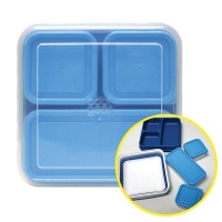 접는 샐러드용기 간편 휴대용 도시락통 블루 1.57L