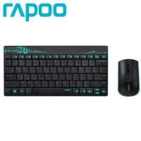 RAPOO 미니 무선 키보드 + 무선 마우스 콤보 RAPOO-8000 (멤브레인 / 12개 기능키 / 방수설계 / 아이솔레이션)