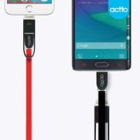 actto 엑토 듀오 충전 5핀 8핀 겸용케이블 USB-16