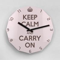 리플렉스 KEEP CALM AND CARRY ON 12각 무소음벽시계 KP12CPK