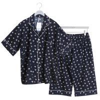 [쿠비카]커플 반팔 카라넥 투피스 잠옷 WM175