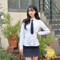 [빅사이즈] 프리미엄 둥근카라 셔츠 (파랑체크) ~4XL