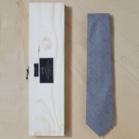 [PLAIN KNOT] PB9AN001-SP-1 / fabric by canonico solid wool tie / 까노니코 솔리드 울타이