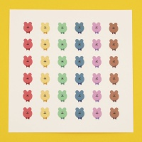 [한톨상점]나비넥타이 반곰이 스티커
