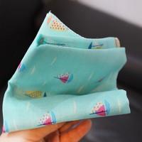 Petit Scarf-Hankie (스카프-손수건) - 바다위 조각구름