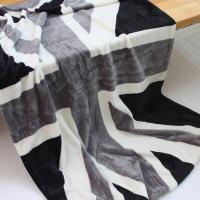 영국 유니온잭 그레이 플란넬 담요 140x100cm