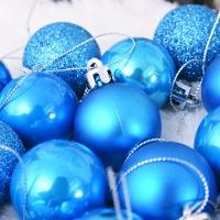 믹스볼장식세트 24개입 (블루) - 4cm