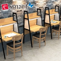 [e스마트] 스틸 라떼 카페테이블