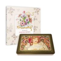 아르누보 색연필 36색(틴)+어여쁜 꽃말 컬러링북 세트