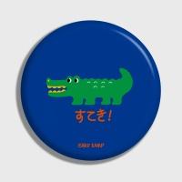 [어프어프] 손거울 Crocodile-blue