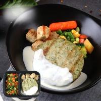 [허닭] 시금치 닭가슴살 & 코코넛 크림 소스 도시락