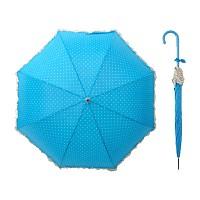 도트 프릴 자동 장우산 Ver.2 - 블루