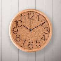 오리엔트 무소음 OT688M 코르크원목 인테리어벽시계