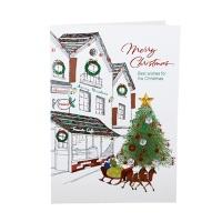 크리스마스카드/성탄절/트리/산타 크리스마스거리 (FS156-2)