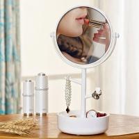 멀티 다용도 주얼리 보관함 양면확대 화장거울