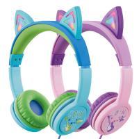 엑토 캣츠 LED 조명 청력보호 어린이 헤드폰 BKS-80