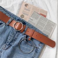 여성 벨트 패션 오링버클 포인트 가죽 허리띠 포인