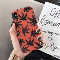 아이폰 가을 단풍잎 심플 소프트 범퍼 실리콘 케이스