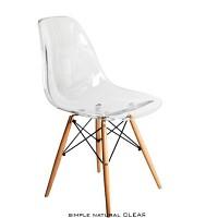 [노매드] 심플내츄럴클리어체어(simple natural chair_CLEAR)