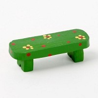 Resin chair - 02 Green bench