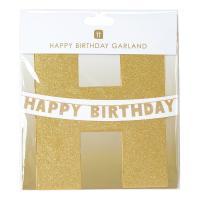 골드 글리터 생일축하 가랜드 Happy Birthday Garland