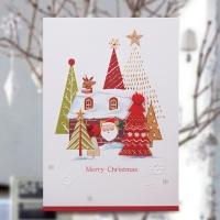 크리스마스카드/성탄절/트리/산타 누덜프 크리스마스카드 FS1024-6