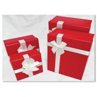 홀마크 리본 선물포장상자 4종세트-레드
