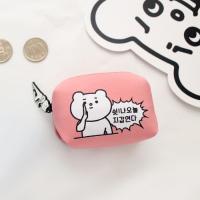 적극적인곰 미니사각 코인월렛 Baby pink