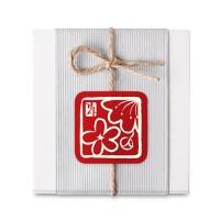 [인디고샵] 벚꽃 적색 사각 라벨 (10개)