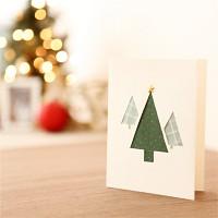 핸드메이드 크리스마스 카드 (패브릭)-생명나무